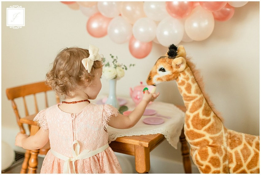 Caroline's 2nd Birthday Giraffe Tea Party by Greenesburg and Pittsburgh Portrait Photographer Jackson Signature Photography.