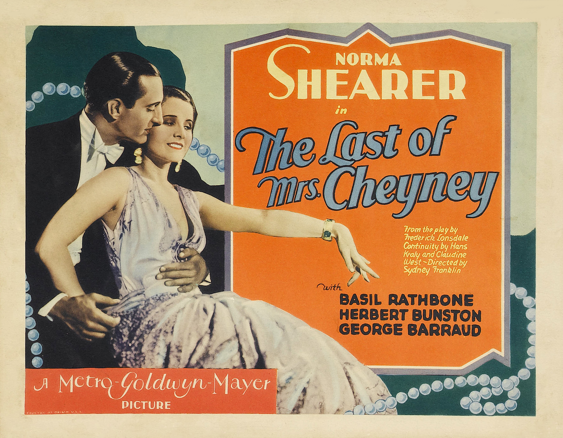 Classic Old Movie : The Last Of Mrs. Cheyney 1929