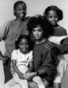 THE COSBY SHOW -- Pictured: (clockwise from top left) Malcolm-Jamal Warner as Theodore 'Theo' Huxtable, Tempestt Bledsoe as Vanessa Huxtable, Lisa Bonet as Denise Huxtable Kendall, Keshia Knight Pulliam as Rudy Huxtable (Photo by NBC/NBCU Photo Bank via Getty Images)