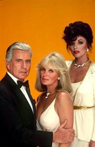 DYNASTY - Gallery October 1981. (Photo by ABC Photo Archives/ABC via Getty Images) JOHN FORSYTHE;LINDA EVANS;JOAN COLLINS
