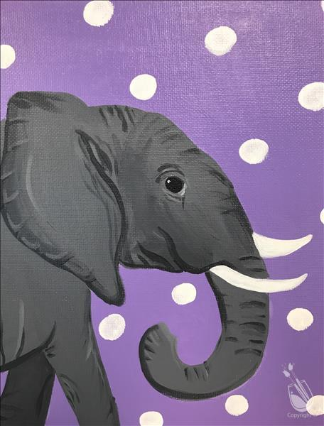 Summer Class Polka Dot Elephant At Painting With A Twist Jacksonville Kids Out And About Jacksonville