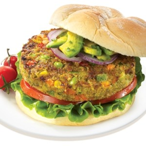 Presentation of Veggie Burger