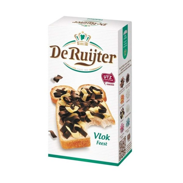 De Ruijter vlokfeest Dark & white chocolate