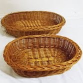 Buff Willow Oval Pet/Display Basket