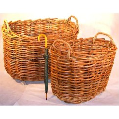 Giant Rattan Oval Log Basket