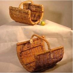 Open Ended Barrel Log Basket Carrier