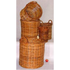 Round Log Baskets