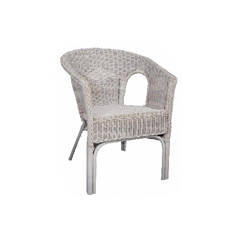 White Rattan Adults Chair