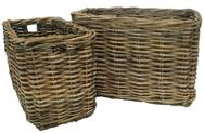 Natural Thick Rattan Rectangular Log