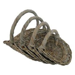 Grey Rattan Flower Trug
