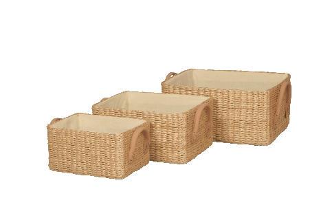 Soft Rush Lined Basket
