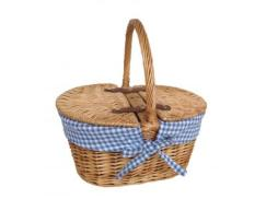 Child's Oval Lined Lidded Hamper - Blue