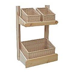 Shop Display Basket Stand