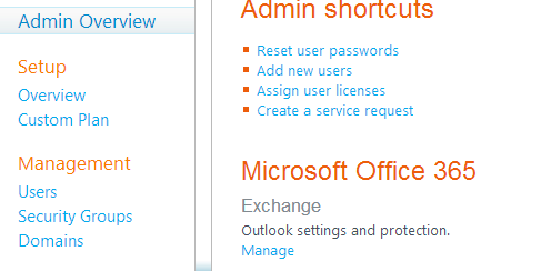 Hosted exchange 2010