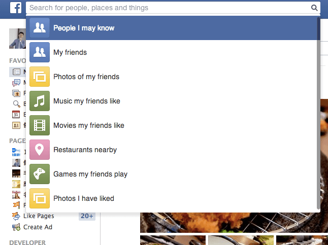 臉書Facebook英文版超強Graph search搜尋功能(找人、找圖、找讚隨便找)