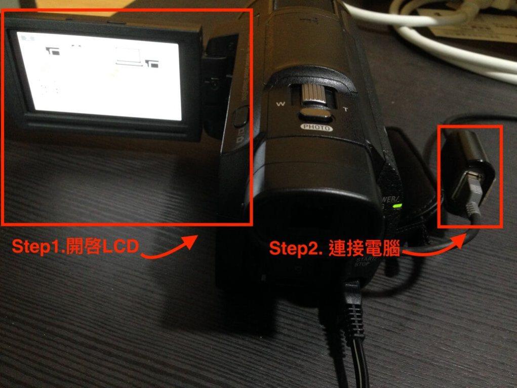透過內建USB電纜連接至電腦的連線