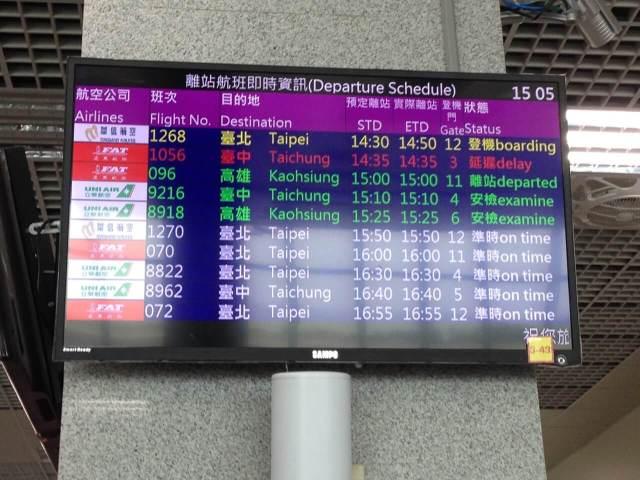 回程因海象不佳,所以改坐金門小三通回台灣