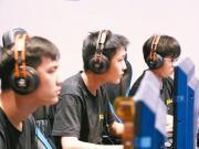 台灣大專校院成立電競相關科系或學程,圖為城市科大電競隊學生。 圖/取自城市科大電通系電競代表隊粉絲專頁
