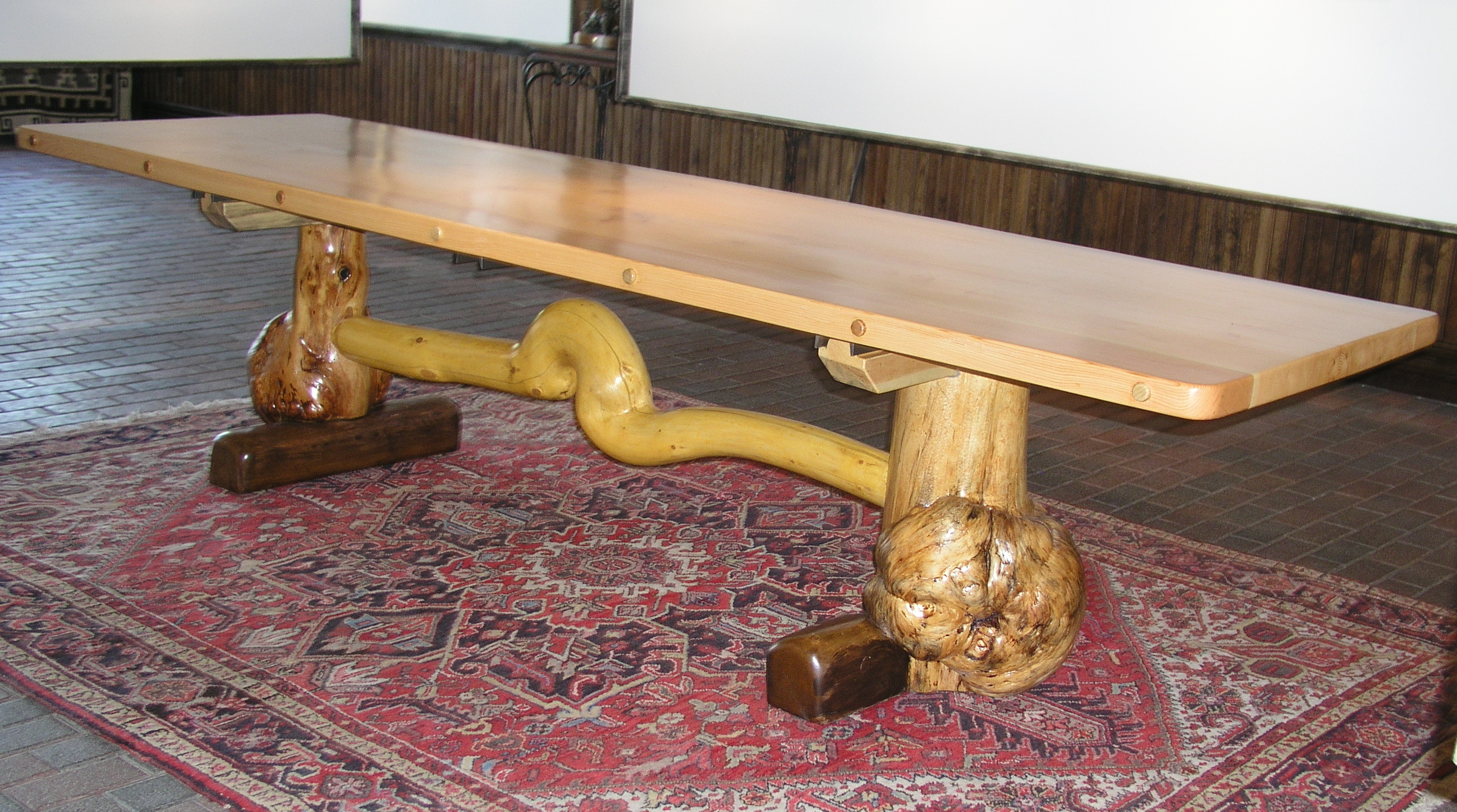 Woodworking Plans Rustic Plank Dining Table Plans PDF Plans