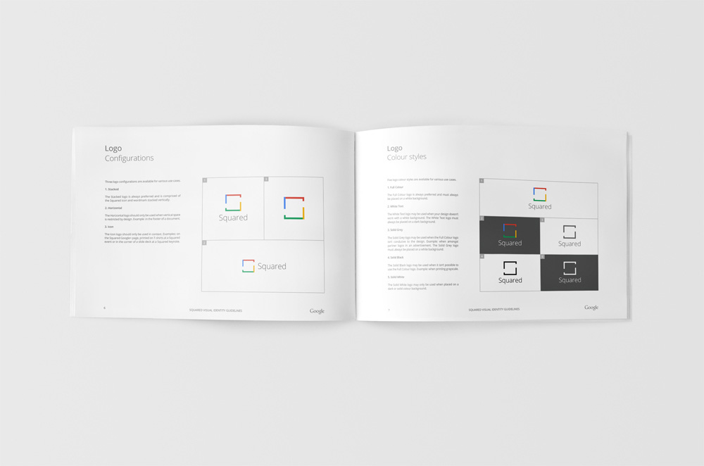 Google Squared Brand Identity Guidelines