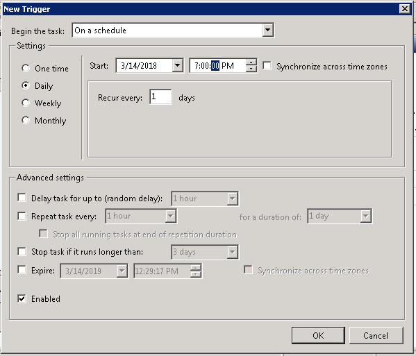 Creating A Scheduled Task To Automatically Delete Files