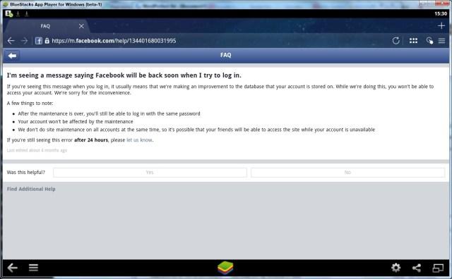 No Facebook access