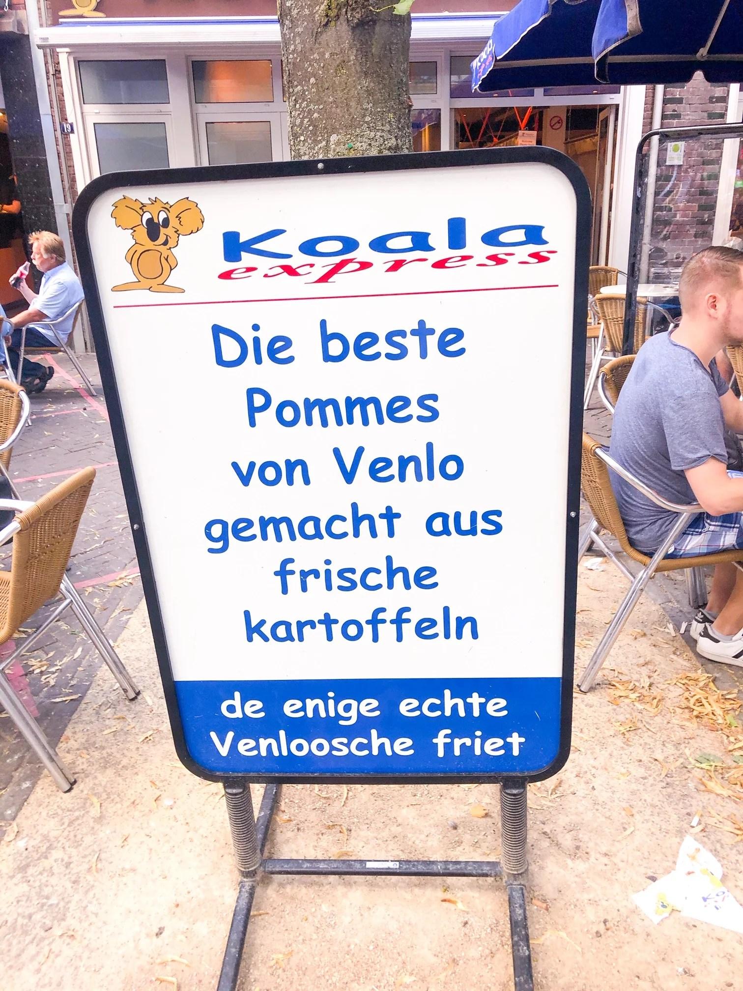 Pommes essen in Venlo