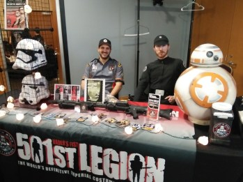 Representatives of the Mid-South 501st Legion