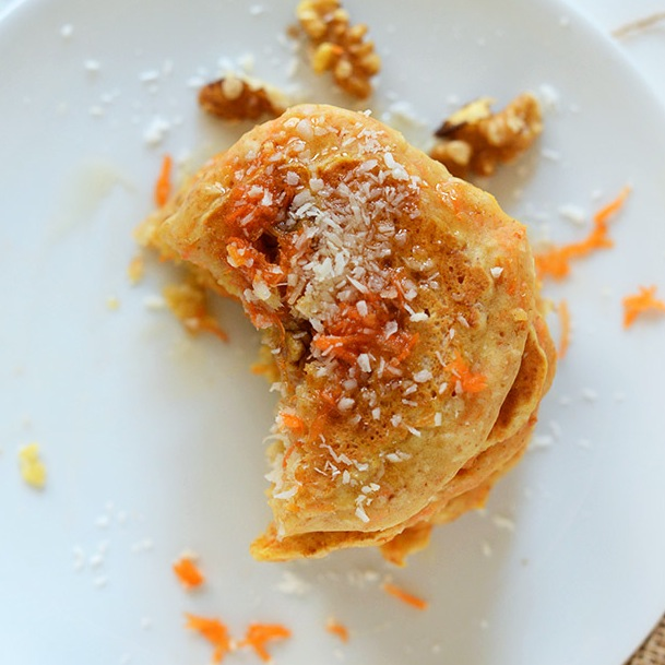 Vegan Coconut Flour Carrot Pancakes