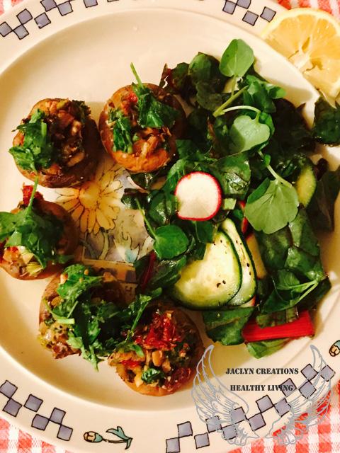 Italian Herb Stuffed Portobello Mushrooms-dish