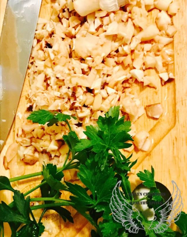 Italian Herb Stuffed Portobello Mushrooms-mushrooms-parsley