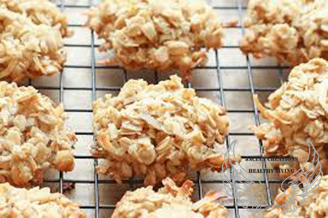 Coconut Flake Almond Butter Oat Bake Cookies