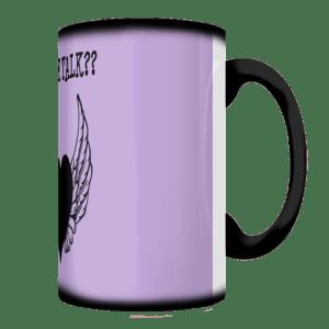 Coffee Talk Purple Mug Side