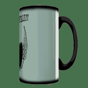 Coffee Talk Olive Mug Side