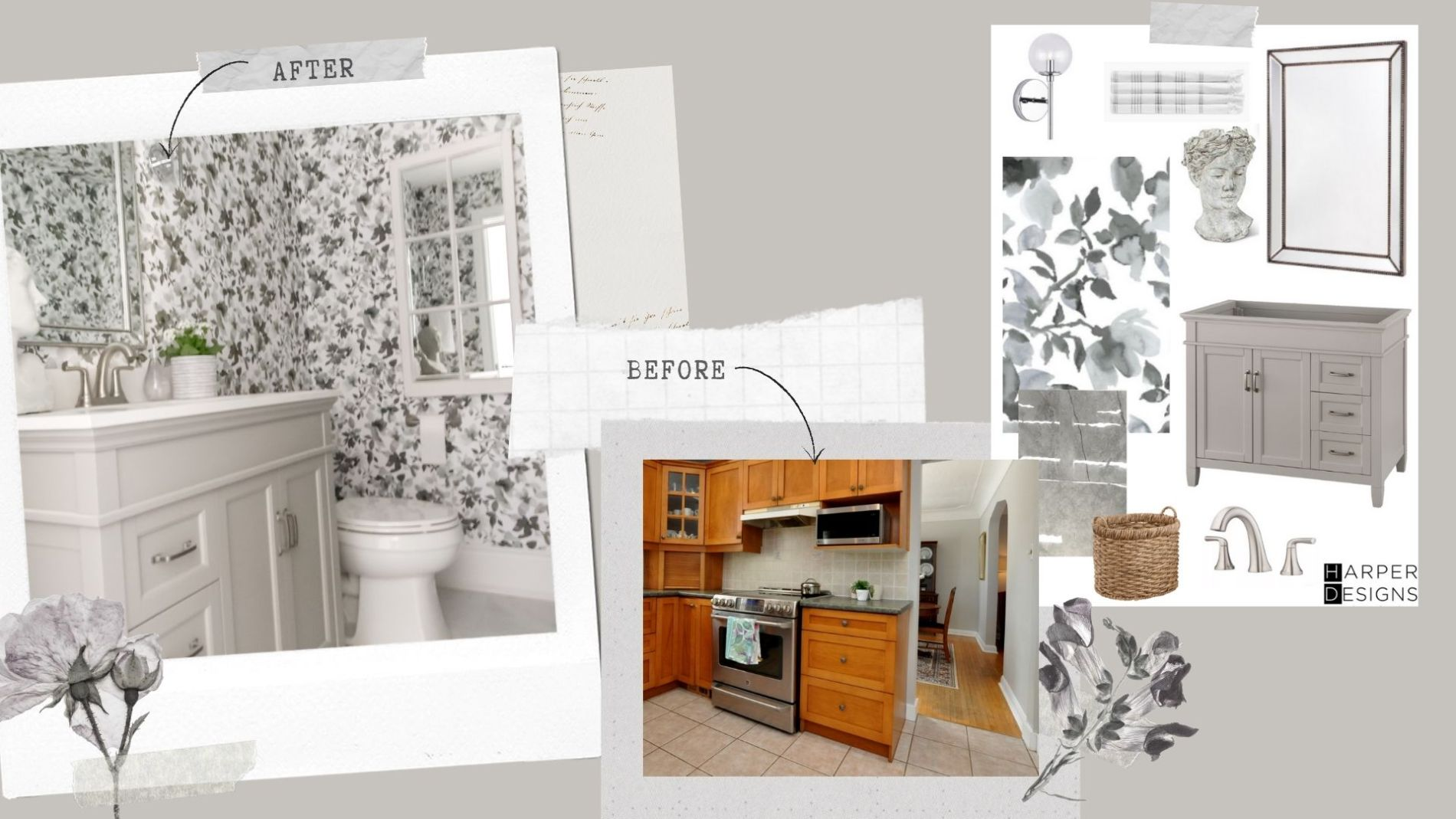 Before and After Bathroom Makeover by Jaclyn Harper of Harper Designs