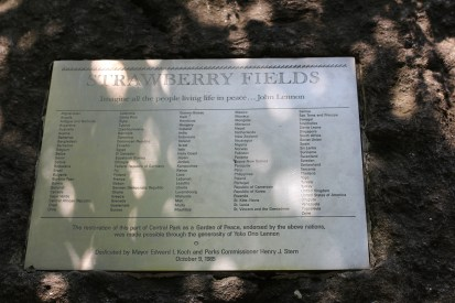 Strawberry Fields, Central Park