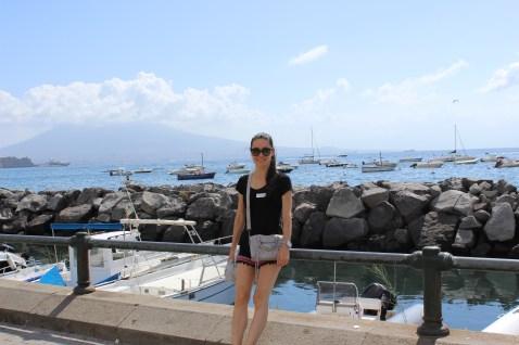 Shay in front of Vesuvius