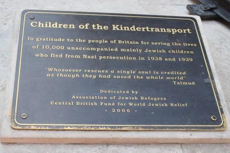 Kindertransport Plaque