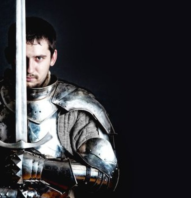 Knight holding two-handed sword - Jacmus Prime roleplay game
