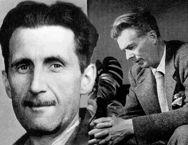 George Orwell and Aldous Huxley