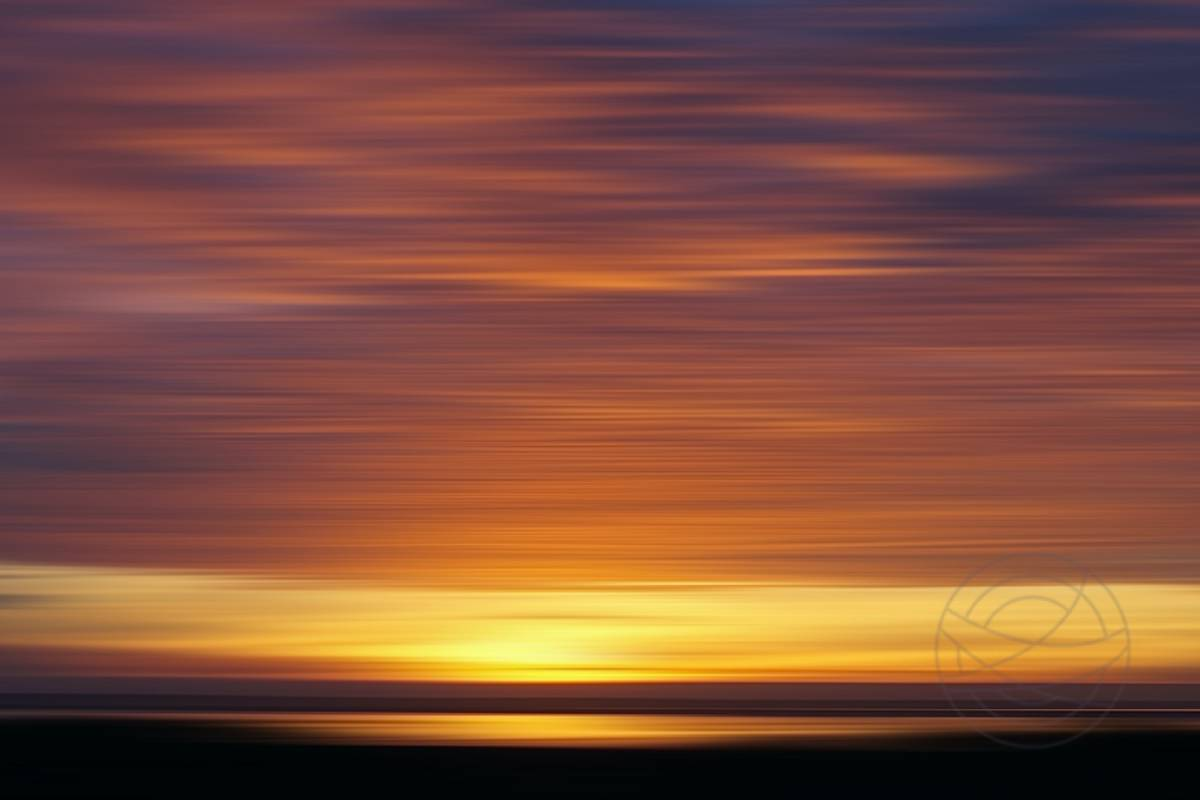 Burning Sunset (3) - Abstract realistic fine art landscape photography