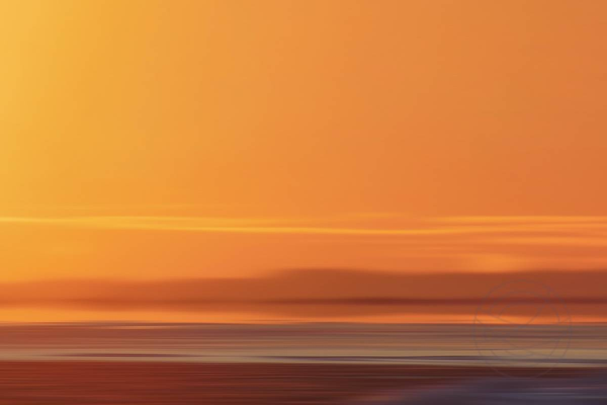 Nordic Sunset 4 - Abstract realistic fine art landscape photography.