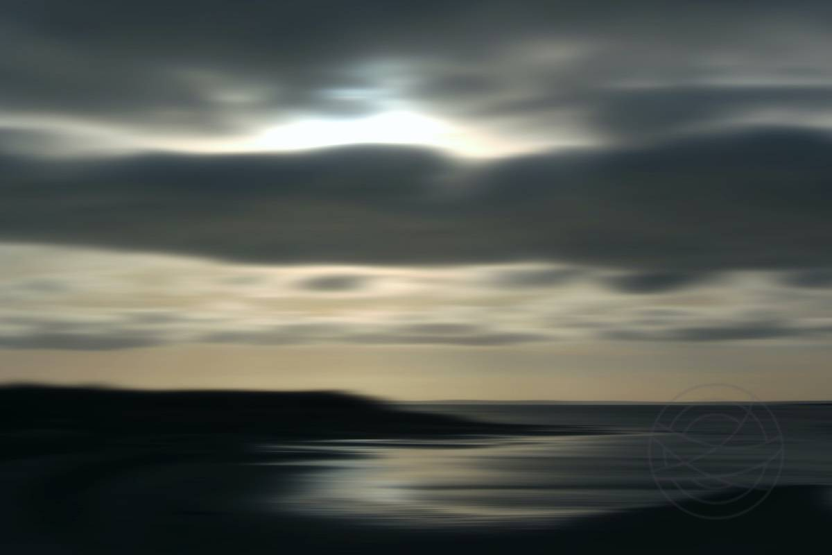 Winter Sunset (9) - Abstract realistic fine art seascape photography by Jacob Berghoef