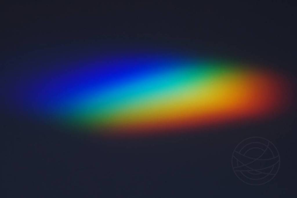 Escape Into Darkness - Abstract expressionistic experimental photography by Jacob Berghoef - A rainbow of light