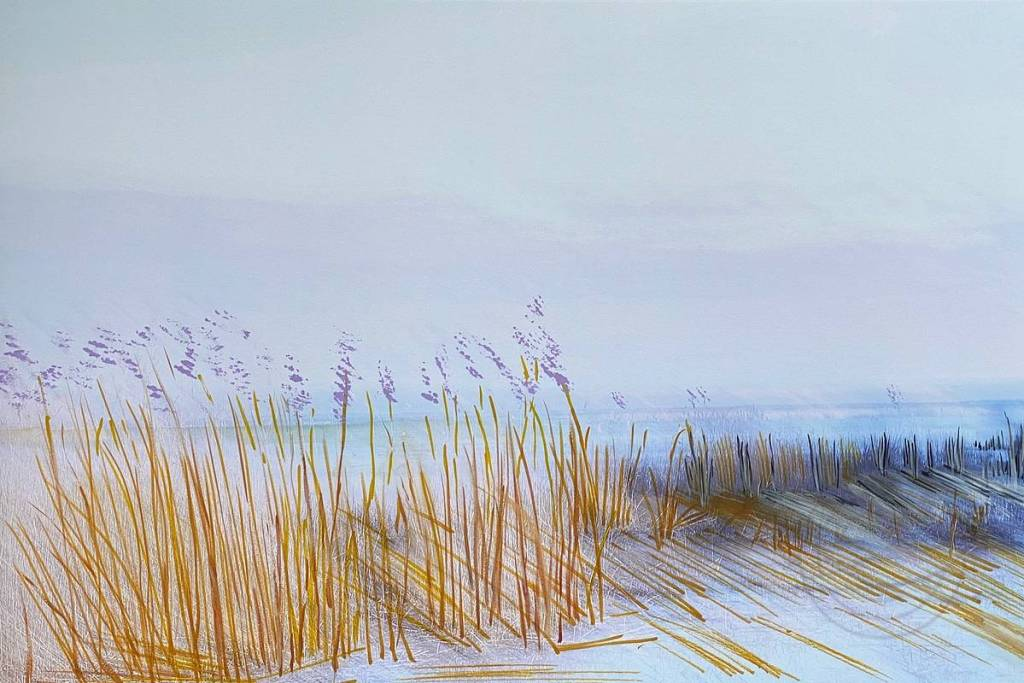 Sunrise Serenade - Sunrise brings a serenade beyond the dark silence of the night. The tender light gently touches the water and the reeds, in a duet with the wind