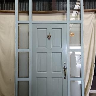 Silver pearl Wooden aluminium framed exterior door