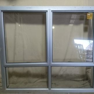 Silver Aluminium twin awning window
