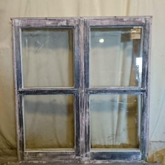 Wooden twin awning window