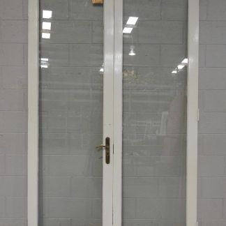 wooden French doors with safety glass - unhung