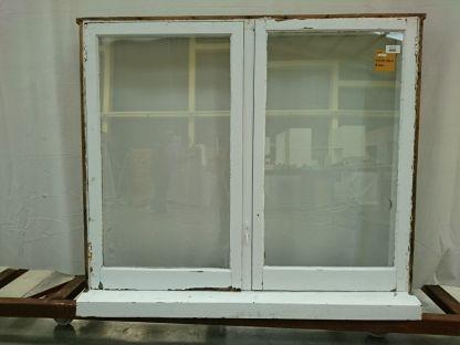 Wooden twin casement window